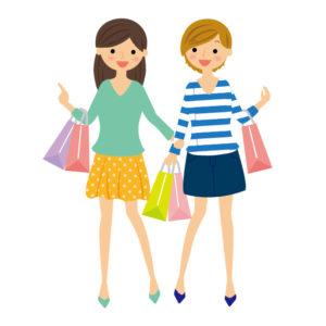 友達と一緒に買い物