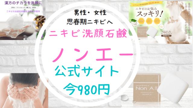 ノンエー洗顔石鹸公式サイト販売店980円